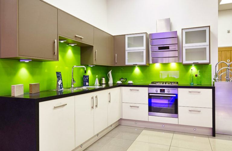 Painted Kitchen Splashback