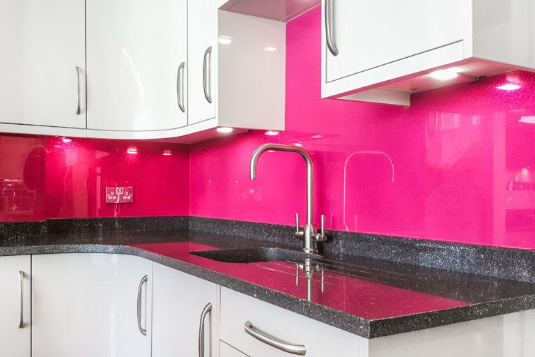 Glitter Kitchen Splashback