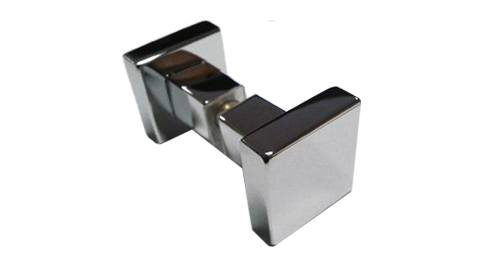 Chrome Square Door Knob