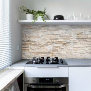 Digital brick printed splashback