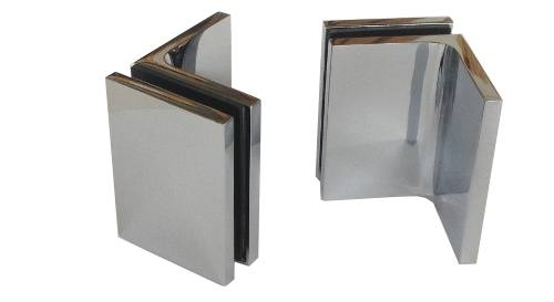 Glass to Wall 90 degree Aperture Fitting Concealed Fixings